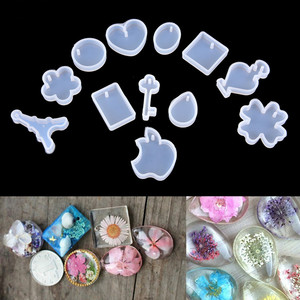 1/5/12Pc Resin Silicone Mold DIY Geometric Triangle Mirror Craft Epoxy Resin For Jewelry Making Necklace Pendant Decorative Cake