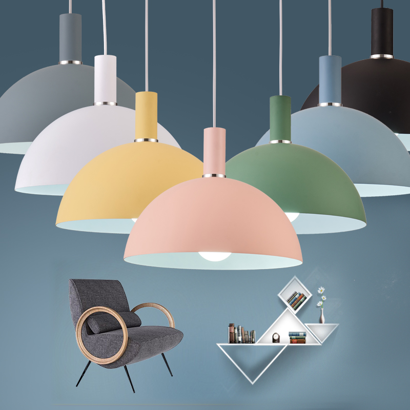 Indoor LED Vintage Pendant Light Colorful Nordic Loft Lamp Minimalist Modern Kitchen Dining Room Restaurant Home lighting Decor терка brand new 2015