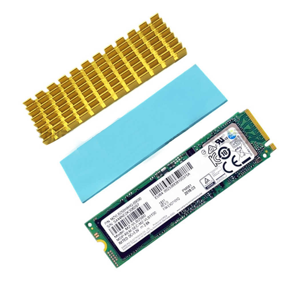 Ketebalan Computer Thermal Konduktif Aluminium Hard Drive Pengganti Ultra Tipis Wastafel Panas Aksesoris SSD Cooler untuk NVME 2280