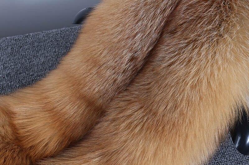 fox skin scarf big fox fur scarf (6)