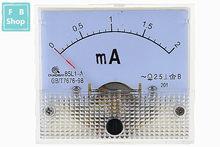 1PCS 85L1-mA 2mA 3mA 5mA 10mA 15mA 20mA 30mA 50mA 75mA AC Reservatório de Plástico Branco Analógico Painel Meter AMP Amperímetro