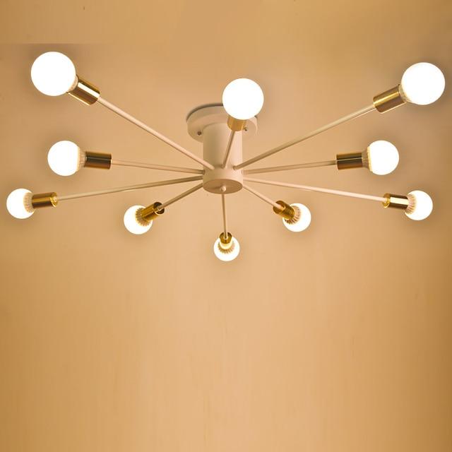 Vintage Ceiling Lights 10 Heads living rom Lamp E27 bulb Creative Retro Lamparas De Techo Cafe Bar Luminaria Led Home Lighting
