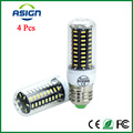 4pcs LED Corn Lamp 4014 SMD Ultra High luminous E27 E14 Chandelier Real Watt 3-10W 220V High Quality LED bulbs light No Flicker