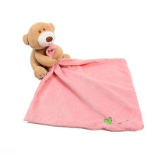 Baby Security Blanket Toys Soft Bedtime Soother Baby Plush Toys Comfort Towel Sleep Appease Baby Stuffed Bear
