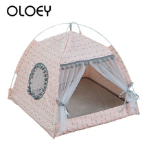 New Foldable Dog Cat Tent House Kennel Pet Easy Operation Bed Sleeping Mat Portable Indoor Outdoor Travel Supplies
