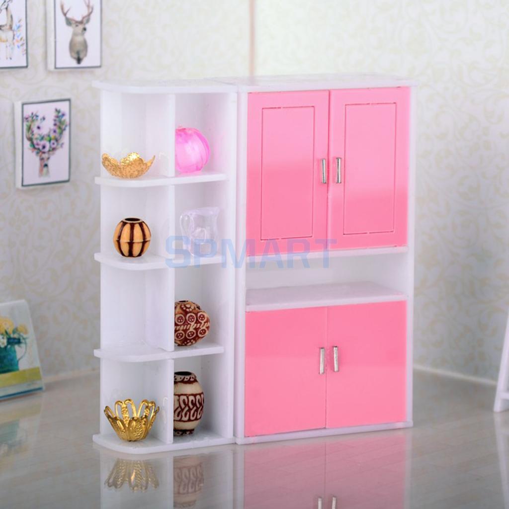 1 12 Dollhouse Miniature Furniture Display Cabinet Cupboard