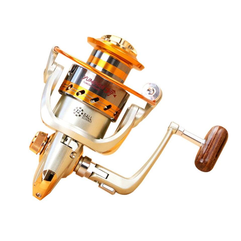 2017 Nuovo EF500-9000 Serie In Alluminio Bobine di Pesca Cuscinetti A Sfera Tipo Bobina 12BB Anti corrosione dell'acqua di mare pesca rullo