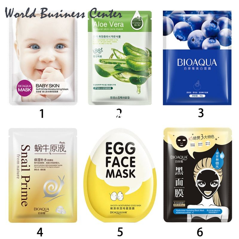 BIOAQUA Brand 1 Pc Facial Skin Care Face Oil Control Hyaluronic Acid Black Mask Sheet Pack Essence Moisture Korean Cosmetics