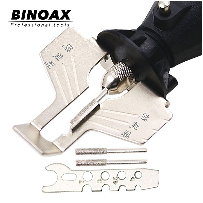 BINOAX Saw Sharpening Attachment Sharpener Guide Drill Adapter For Dremel Drill Rotary Accessories