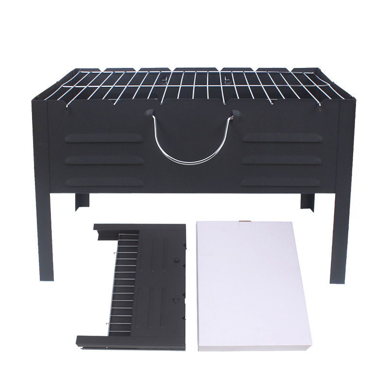 Folding BBQ Grills Iron Barbecue Grill For Outdoor Charcoal Grills With Stainless Steel Meshes Portable For Barbecue Camping ...
