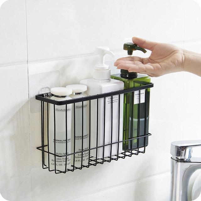 Liyimeng 교수형 스토리지 바구니 욕실 바구니 주방 주최자 스폰지 홀더 식기 선반 빗 상자