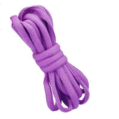 """100 см/3"""" овальные плоские шнурки Шнурки кроссовок 24 цветов для выбора - Цвет: No 10 voilet"""