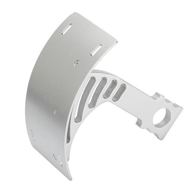 Silver Curved Rear Vertical License Plate Frame Mount Tag CNC Billet ...
