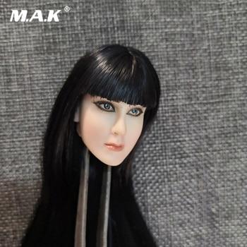 1/6 Beauty Female Cleopatra Princess of Egypt 2.0 Head Carving Ankhesenamun Black Straight Hair Model for 12'' Action Figure