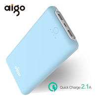 Aigo 20000mAh Power Bank 2 USB Ports Ultra Slim Powerbank Portable External Battery Poverbank For Xiaomi