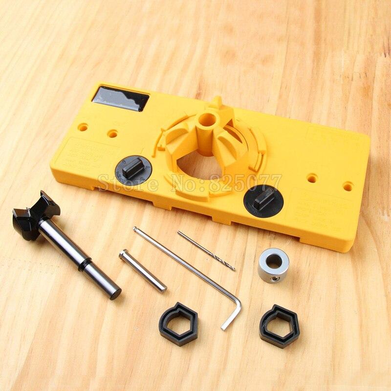 1 Unidades 35mm bisagra guía de broca lo herramientas de carpintería carpintero herramientas de bricolaje JF1284