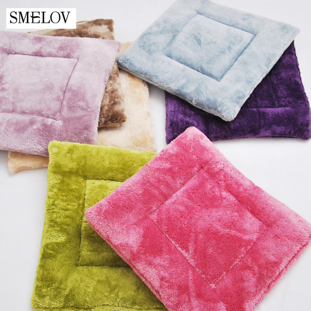 US $5.99 |Smelov pure color soft plush square kitchen chair pads dining  chair cushions thickened warm Winter seat cushion mat Home Decor-in Cushion  ...