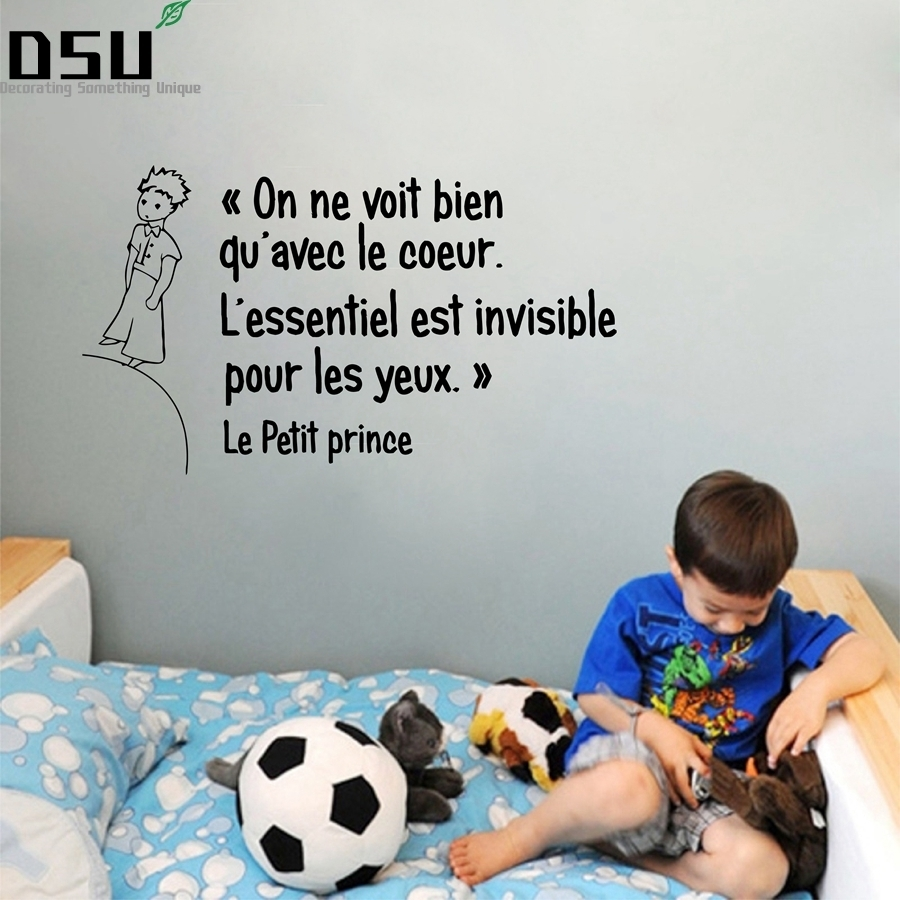 French Quotes The Little Prince Wall Stickers FQ0004 Wallpaper