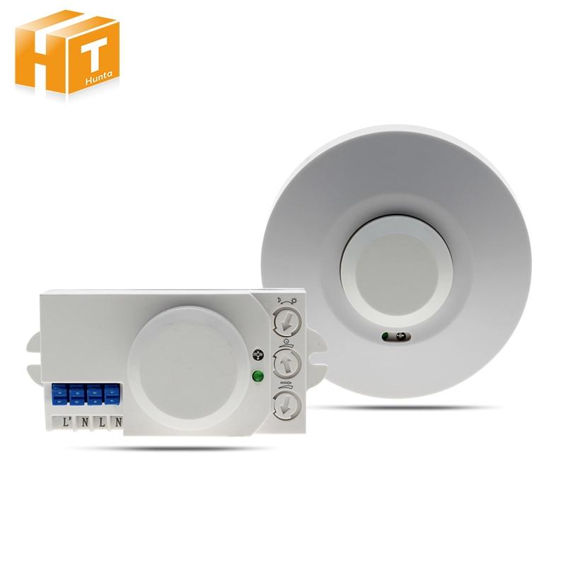 Microwave Sensor Radar Smart Light Switch AC220-240V 360 Degree Human Body Motion Detector Light Switch td tad wb8 3 3ghz microwave radar motion sensor switch 220v