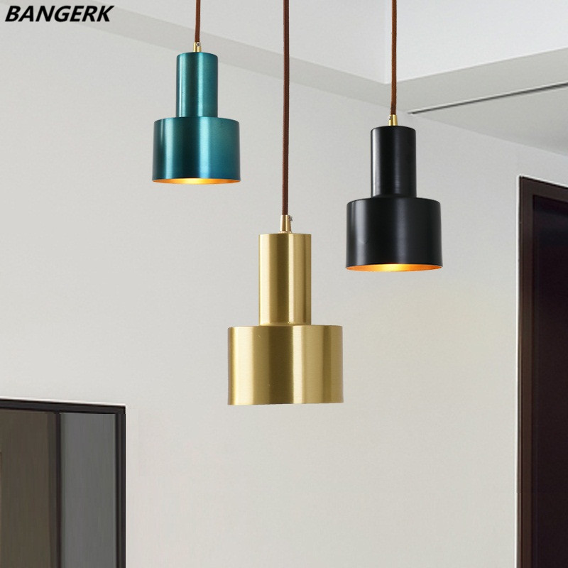 American Copper LED Pendant Lamp Lights Antique Loft Industrial Vintage Hanging Light Fixtures Brass Home Decor Lighting brass half round ball shade pendant light led vintage copper wooden lighting fixture brass wood fabric wire pendant lamp