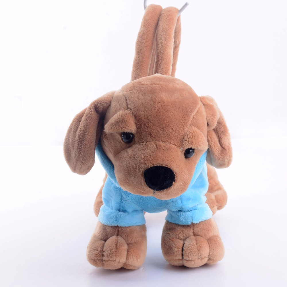 Gloveleya Plush Cartoon Dog for Kids Coin Holder 3D Poodle Toys Blue Pencil Cosmetic Puppy Bag for Children Best Gifts 8*4*5
