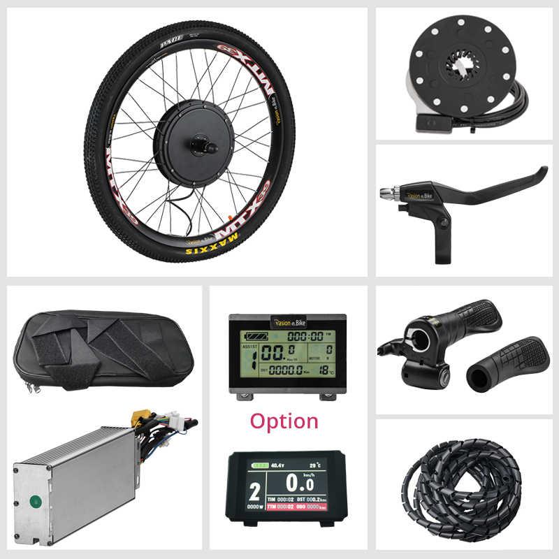 Pasion E BIKE Conversion Kit 48V 1500W Cassette Electric Bike Conversion Kit 1500W Motor Wheel Electric Bicycle Hub Motor Kit