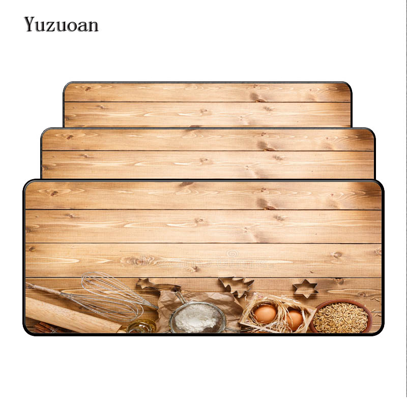 Yuzuoan Customized Light Wooden Top Selling Best Large 90x40cm Mouse Pad Game Gaming Mousepad Keyboard Mat Lock Edge Pad As Gift