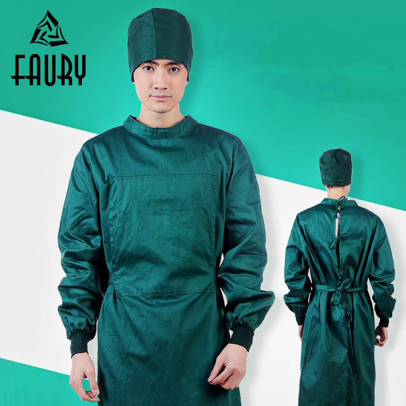 Unisex Doctor Surgical Gowns Long-sleeved Surgery Operating Room Robe Isolation Clothing Beauty Salon Hospital Washing Suits