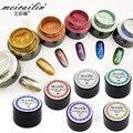 2017 Nueva 6 Colores de Uñas Glitter Powder Shinning Mirror Sombra de Ojos maquillaje En Polvo 5g de Polvo Del Arte Del Clavo DIY Glitters Uñas Pigmento de Cromo