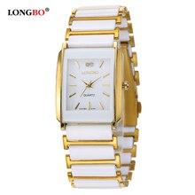 Longbo marca de moda de lujo de las mujeres reloj de cerámica relojes de cuarzo correa de las mujeres de señora girl reloj de vestir relojes feminino regalo