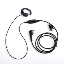10*Black Wired 2 Pins PTT Earphones with Microphone G-ear Headset For Kenwood TK Two Way Radio Earpiece Earphones