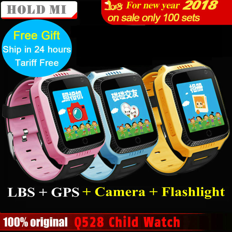 Hold Mi Q528 Y21 Touch Screen Kids GPS Watch with Camera Lighting Smart Watch Sleep Monitor GPS SOS Baby Watch PK Q60