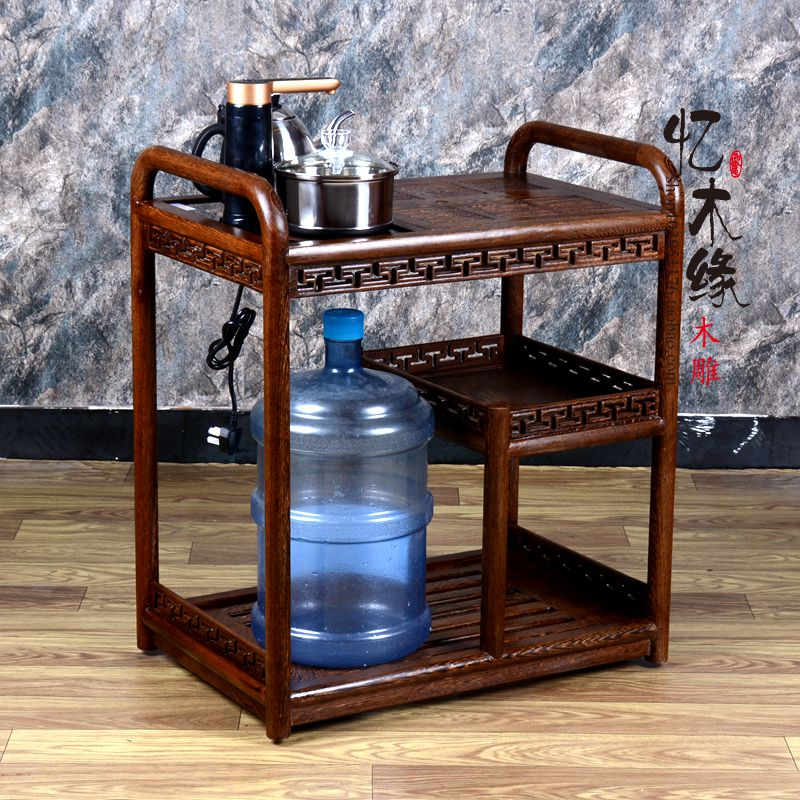 African chicken wing wood tea table global Kung Fu tea tray tea cabinet wood tea Chinese antique car 100% bamboo kung fu tea set bamboo tea tray bamboo tea saucer large sea water type tea table storage tray trumpet