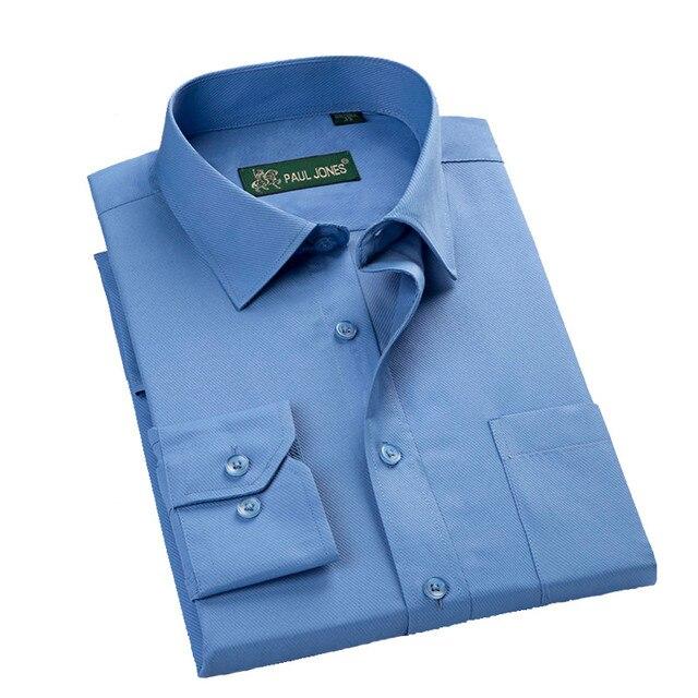 Uni-Splendor 2016 Men Dress Shirts Business Formal Long Sleeve Cotton Shirt Men Fashion Overalls Striped Shirts S-5XL YN900