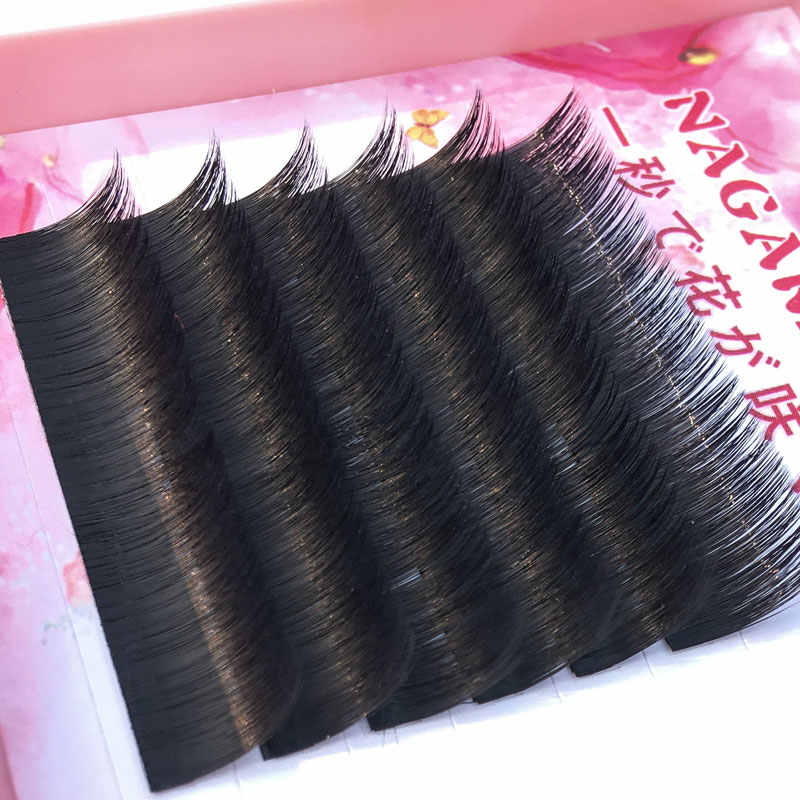 40e6a10fbdb ... NAGARAKU 4cases new arrived autofans eyelash easy fanning lashes  autofloracion fan Russian volume two-tone ...