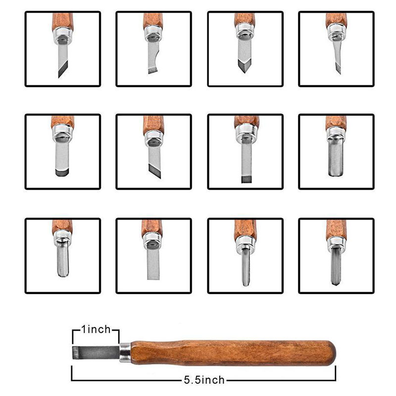 12pcs Professional Wood Carving Tool Set High Quality Wood Carving Hand Chisel Set Woodworking Craft Hand Tool high quality 46pcs set chisel portable vegetable food fruit carving tool kit with bag new arrival