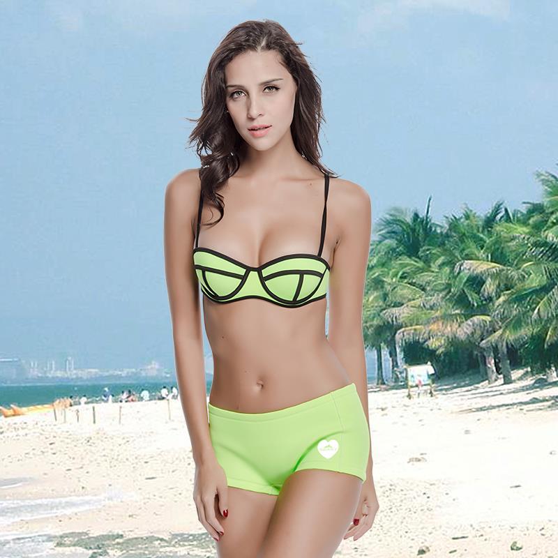 Sbart Bright Wet Suit Neoprene Biquini Swimwear Swimsuit Push Up Sexy Bikini Set In Bikinis Set From Sports Entertainment On Aliexpress Com Alibaba