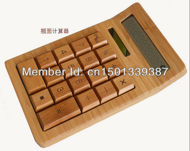US $120 0 |Bamboo produced calculator / wood calculator / the calculator  made of bamboo /Characteristics of creative calculator-in Calculators from