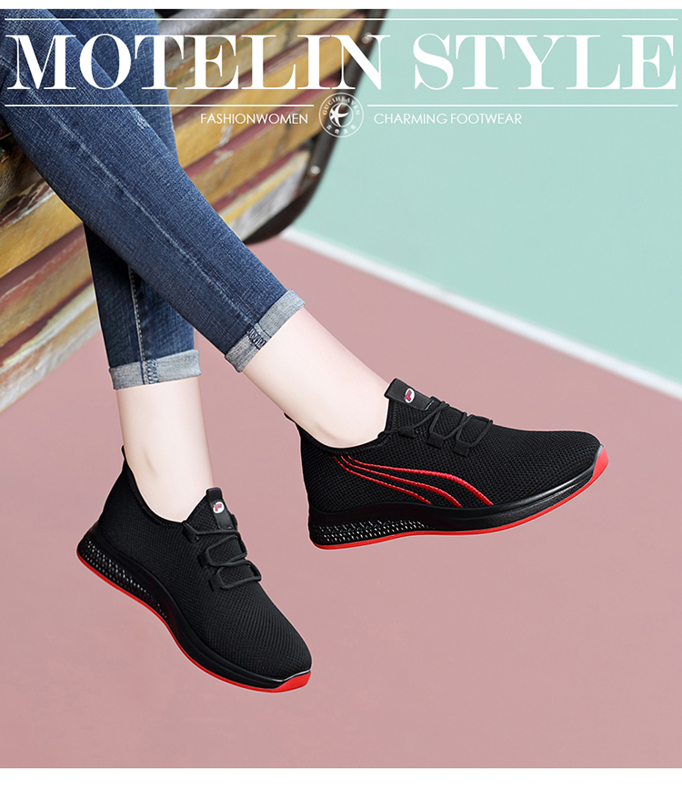2019 new Guciheaven Flat Platform Casual Sneaker Women Walking Shoes Ladies Lace Up Air Mesh