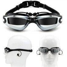 Myopie lunettes de natation bouchon d'oreille professionnel adulte Silicone bonnet de bain lunettes de piscine anti brouillard hommes femmes optique lunettes étanches