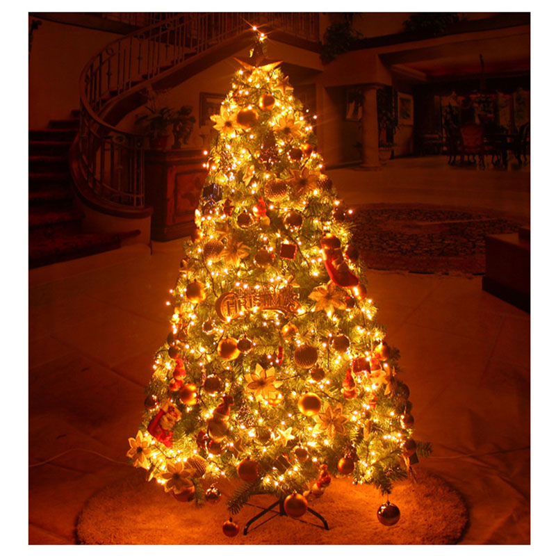 Luxurious Christmas Trees: 1.5M Christmas Tree With Many Tree Decorations Glowing