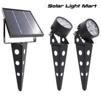 Mini 50X3.0 Aggiornato Doppia Energia solare A LED per Esterni Paesaggio della decorazione del giardino del Riflettore Impermeabile 5 m Cavo lampada da giardino