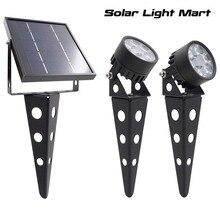 Legacy 50X Aktualisiert Twin Solar Powered LED Outdoor Landschaft garten dekoration Scheinwerfer Wasserdicht 5m Kabel garten lampe