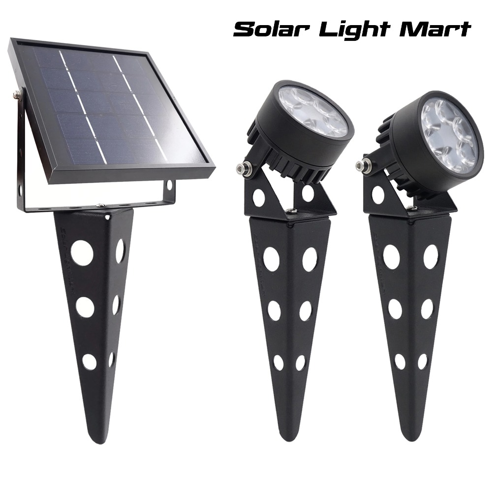 Mini 50X 3.0 Updated Twin Solar Powered LED Outdoor Landscape garden decoration Spotlight Waterproof 5m Cable garden lamp