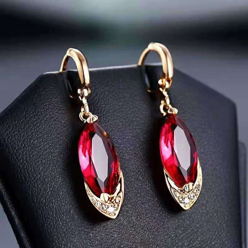 HTB1Wwokd81D3KVjSZFyq6zuFpXaQ - Begua Ringen Classic Design 925 sterling silver restoring ancient pomegranate red corundum earring