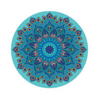 Suede yoga mat home pad round yoga meditation pad printing natural rubber yoga mat high-quality professional fitness mat