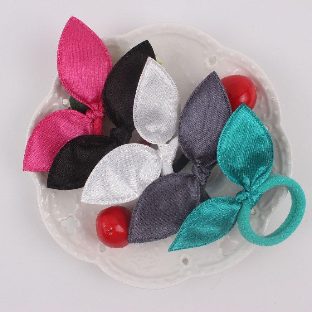 2018 новые меховые наушники материал нейлон резинки женский Хвостик Держатель 6 видов цветов твердого аксессуары для волос для девочек 1 шт TX08