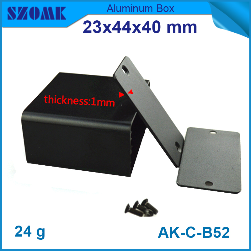 4 pieces steel distribution box metal project box custom aluminum enclosures 23(H)x44W)x40L) mm 215 52 263 mm w h l aluminum extruded enclosures housing project box case
