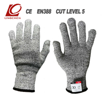 Protection Leve 5 Cut Resistant Protective Gloves stainless steel wire Working Safety Glove Butcher Anti-Cutting mittens