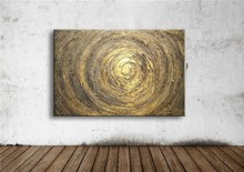 gold oil painting on canvas modern 100% Handmade Best Art Abstract directly wall art for home decor